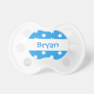 Blue Circles Baby Boy Custom Name P61 Pacifier