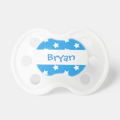 Blue Circles Baby Boy Custom Name P61 Pacifiers