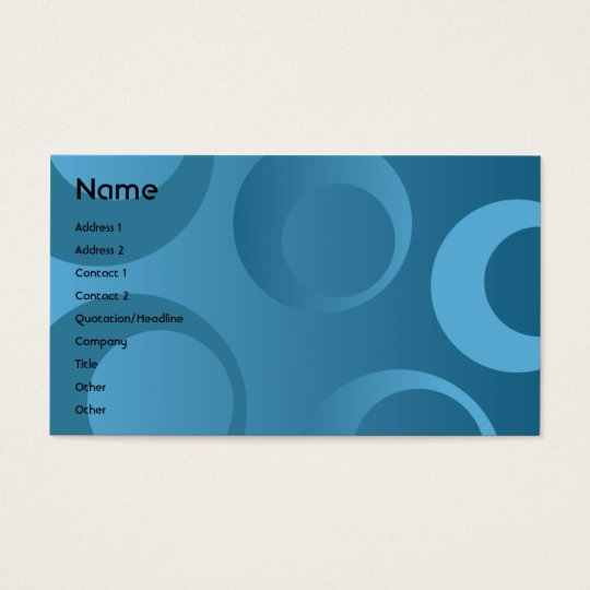 Blue Circles - Business Business Card