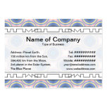 Blue Circles Business Card Template