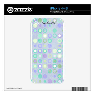 Blue Circles Cell Phone Skin iPhone 4 Decals