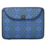 Blue Circles Dots Pattern MacBook Pro Sleeve
