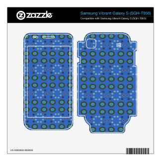 Blue Circles Dots Pattern Samsung Vibrant Decal
