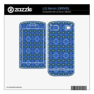 Blue Circles Dots Pattern Skins For LG Xenon