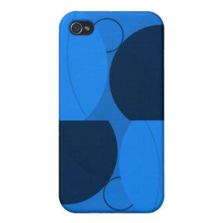 Blue Circles iPhone 4/4S Case