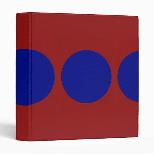 Blue Circles on Red Binder