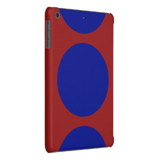 Blue Circles on Red iPad Mini Retina Case