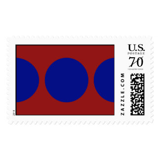 Blue Circles on Red – Large Postage
