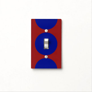 Blue Circles on Red Light Switch Cover