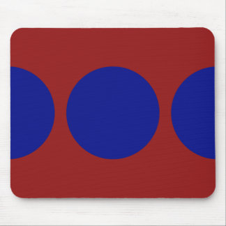 Blue Circles on Red Mouse Pad