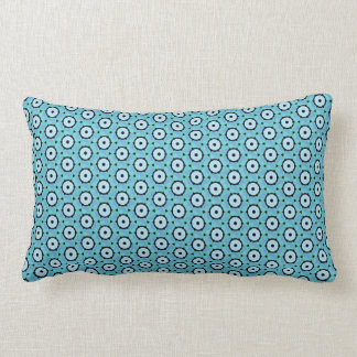 Blue Circles Pattern Lumbar Pillow