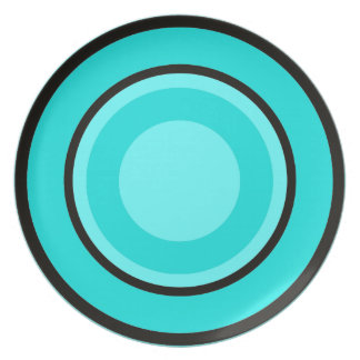 Blue Circles Plate