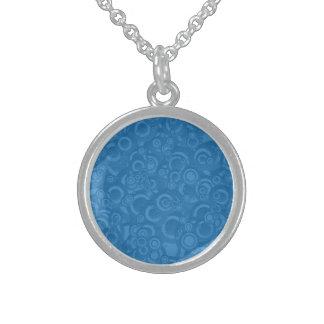 Blue circles round pendant necklace