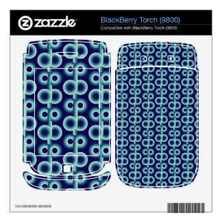 Blue circles skin for BlackBerry