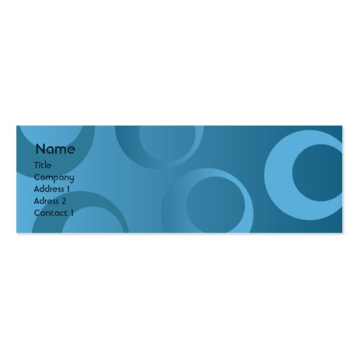 Blue Circles - Skinny Business Cards