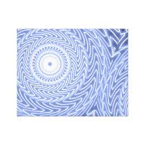 Blue circles swirl pattern canvas print
