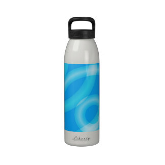 """Blue Circles"" Water Bottle"