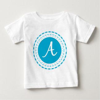 Blue Circles with Monogram A T-shirt