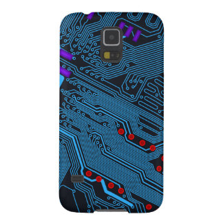 Blue Circuit Board Galaxy S5 Cover