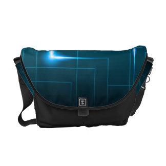Blue circuit board design courier bag