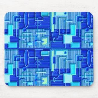 Blue circuit board design mouse pad
