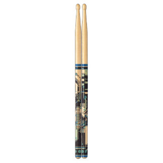 Blue Circuit Board Drumsticks