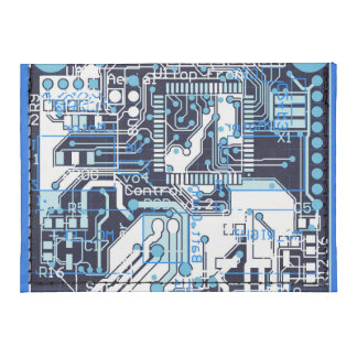 Blue Circuit Board Tyvek® Card Case Wallet