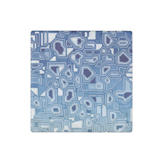 Blue circuit board stone magnet