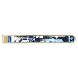1661357904dc Blue Circuit Board Gold Finish Tie Bar
