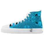 Blue Circuit Board High Tops