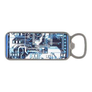 Blue Circuit Board Magnetic Bottle Opener