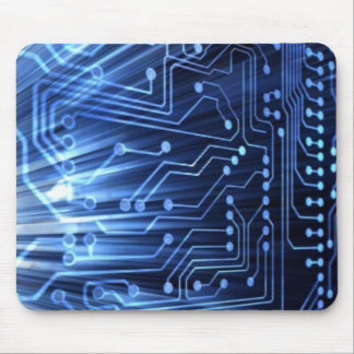 Blue Circuit Board Mouse Pad