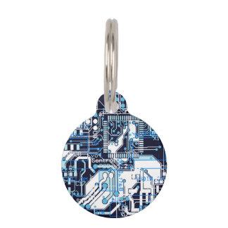 Blue Circuit Board Pet Tag