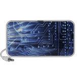 blue circuit board speaker