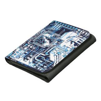Blue Circuit Board Wallets