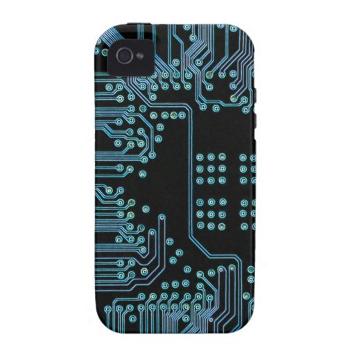 Blue Circuit Case-Mate iPhone 4 Covers