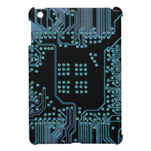 Blue Circuit iPad Mini Cases