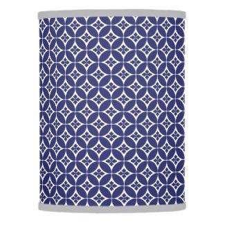 Blue Circular Pattern Lamp Shade
