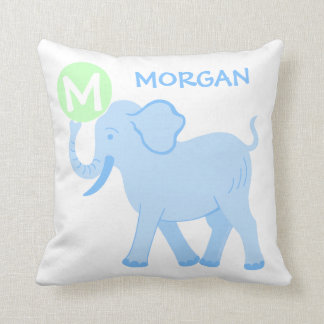 Blue Circus | Baby Boy Nursery Cute Reversible Throw Pillow