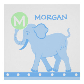 Blue Circus | Baby Boy Nursery Personalize This Poster