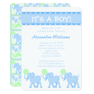 Blue Circus | Baby Shower Its A Boy Adorable Card