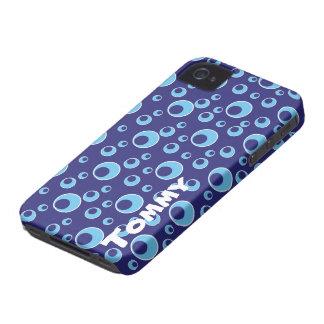 Blue Cirlces Dots Pattern iPhone 4/4s Case Custom