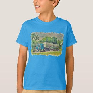 Blue Cistern Tanker Truck Driver Gear T-Shirt