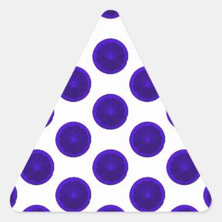 Blue Citrus Slices Polka Dots Triangle Sticker