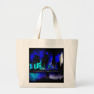 Blue City Tote Bags