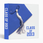 "Blue Class of 2013 Graduation 1"" Photo Album 3 Ring Binders"