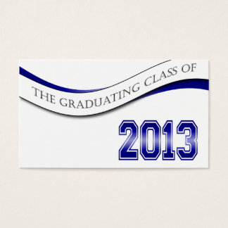 Blue Class of 2013 Name Cards
