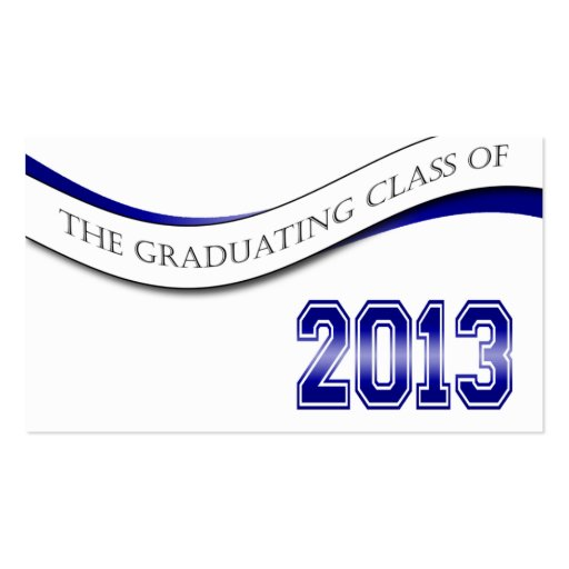 Blue Class of 2013 Name Cards Double-Sided Standard Business Cards (Pack Of 100)