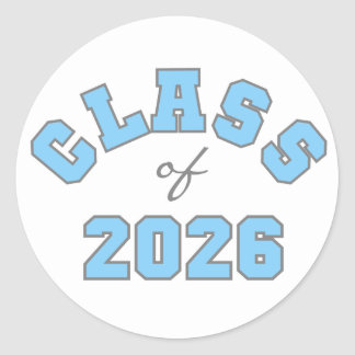 Blue Class of 2026 Classic Round Sticker