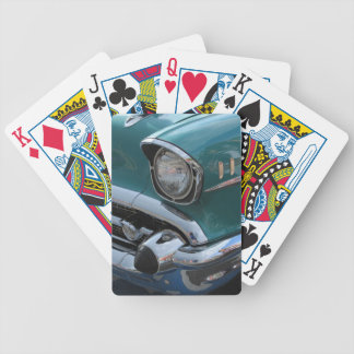 Blue Classic Car Bicycle Playing Cards